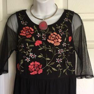 Stunning eShakti embroidery maxi dress.